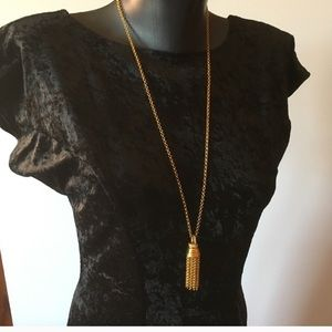 Joan Rivers Long Chain Tassel Necklace w/Crystal